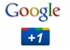 Give you *80+40+10* Real & Active Google+1 Vote on your page only