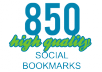 Provide 820 high quality social bookmarks  + rss + ping