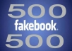 add 500 Facebook Likes your fan page less than 24 hrs