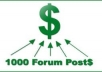 create AMAZING 1000+ Forum Backlinks With High Pagerank Domain