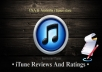 write 20 high quality reviews for any free app on itunes USA store