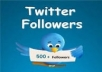 I will give you 500+ real looking twitter followers within 24 hours!