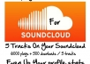 I will increase SoundCloud Plays for 5 of your tracks by 1200 plus 100 downloads EACH @!@