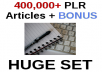 400,000+ PLR articles + BONUS (PLR Ebooks/Vidoes/WP Plugins!!!)