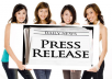 submit your website content to 20 press release distribution sites