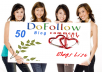 make 50 dofollow high pr and approve blog commenting backlinks