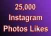 add 25,000 Likes to your Instagram Photos Split between 1 to 10