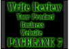 write review website business product blogpost the article to PageRank 7 site