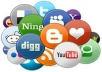 I will give you 12 Facebook share,10 twitter share,10 stumbleupon submit and 5 Google plusones for your website or page