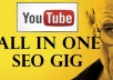 I will give 1000+ Manual+Automated backlinks for youtube video....