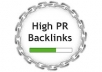 do 2 PR6, 8 PR5, 10 PR4 10 PR3 High PR blog comments manually