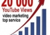 deliver 20000 human video views and 100+ likes, 50 subs, 10 comments, 50 favorites to your Youtube videos