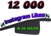 send you 12000 Instagram Likes in less than 24 hours...!!!!
