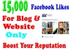 add 15,000 Facebook Website likes to website or Blog within 48 hours