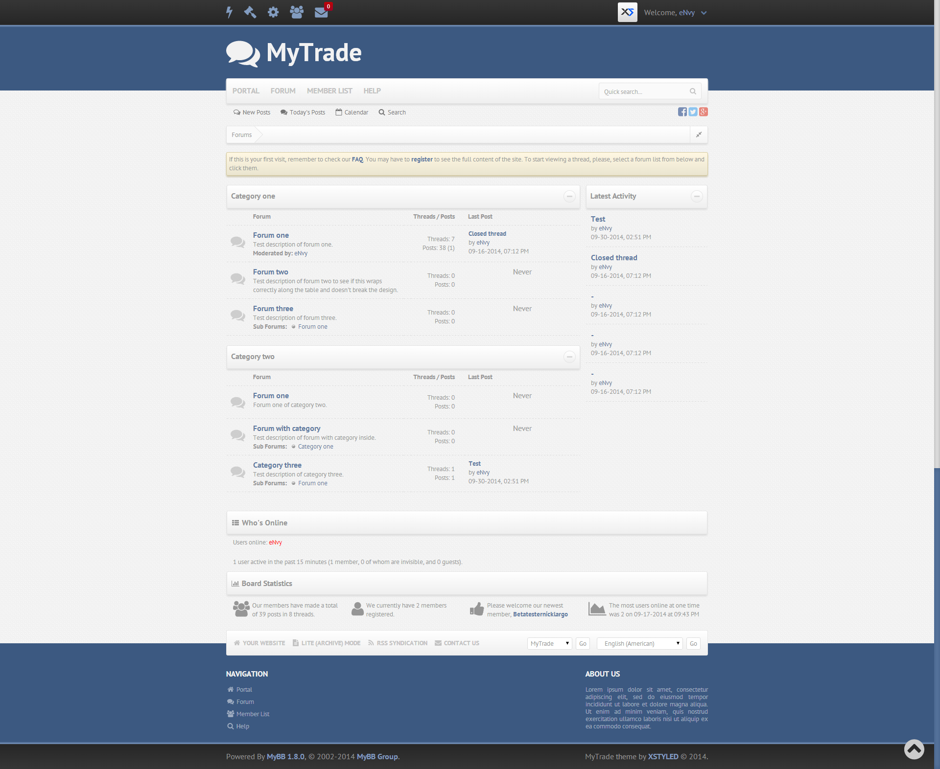 Some professional and cool free theme for MyBB ! - SEOClerks
