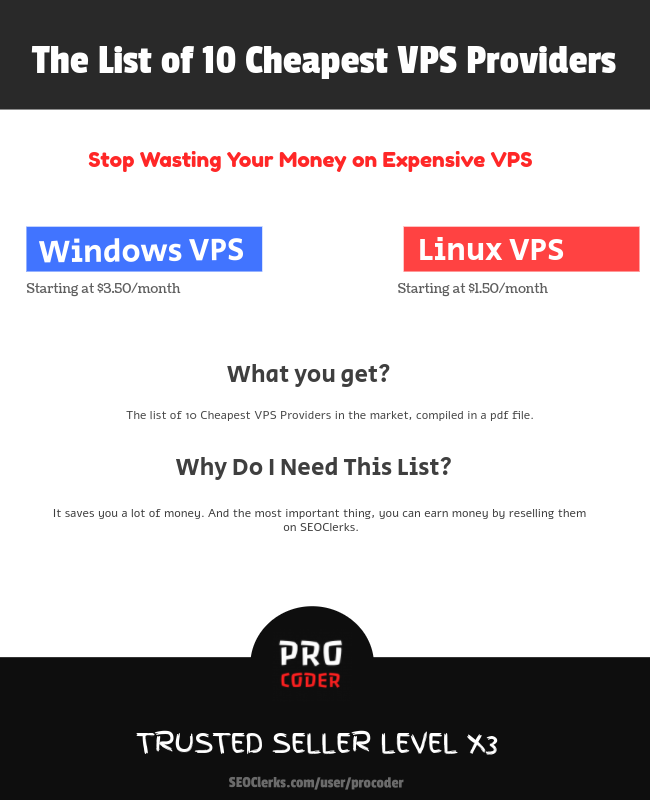 Download The list of 10 Cheapest VPS/RDP Providers for $12