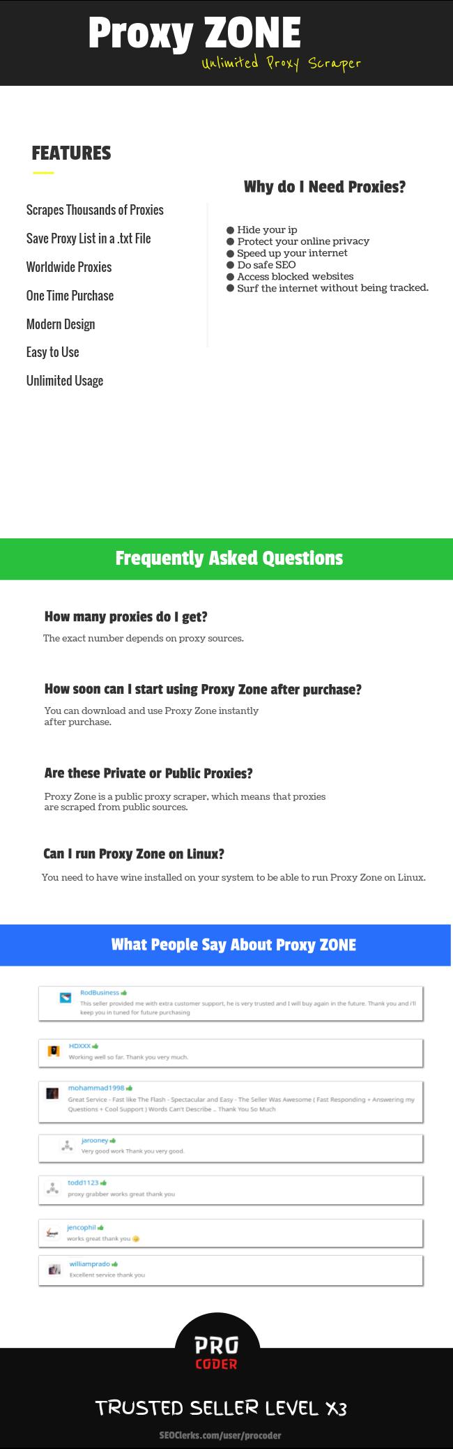 Proxy Zone - Unlimited Proxy Scraper for $9