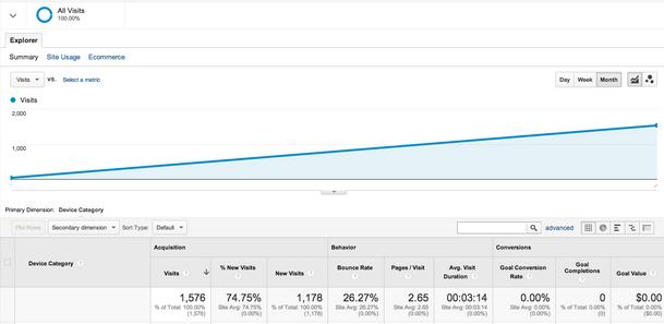 Risultato BOT su Google Analytics - Test di 10 Minuti