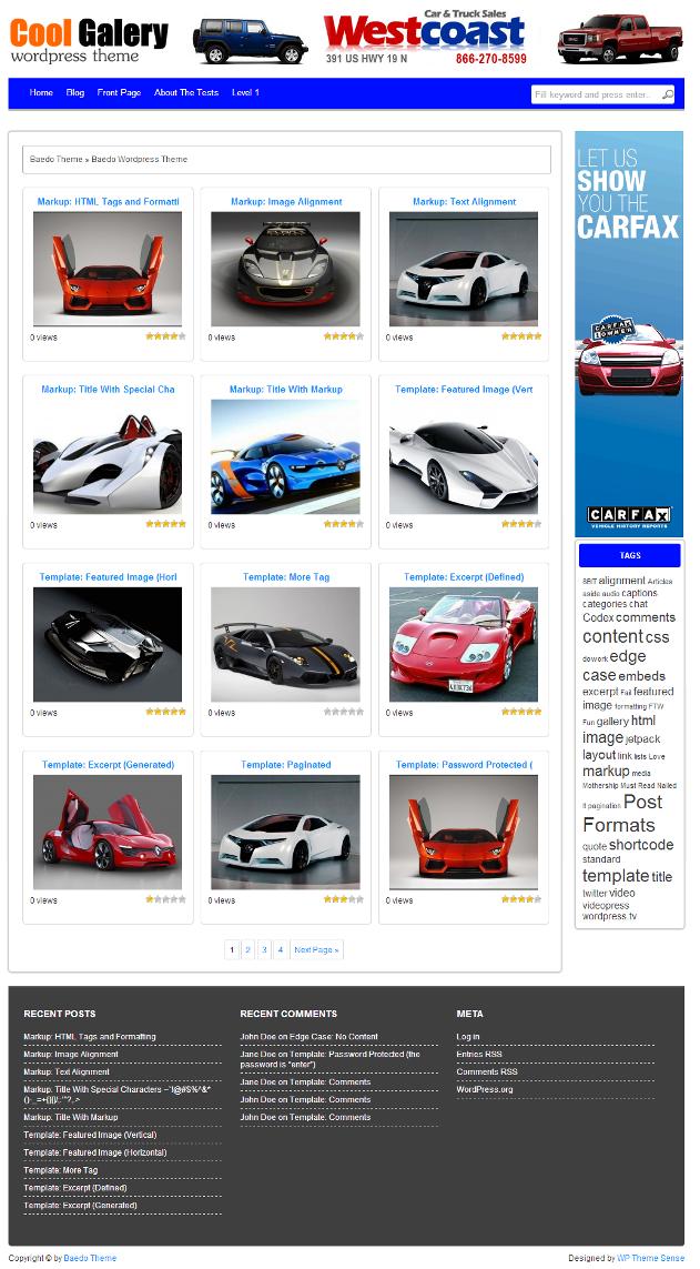 Cool Gallery - Profitable Wallpaper Wordpress Theme for $15 - SEOClerks