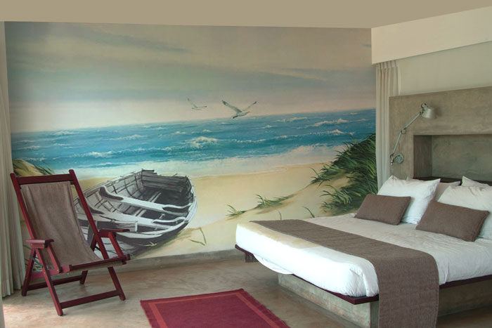 Wall murals hand painted murals for home business for for Bedroom mural painting