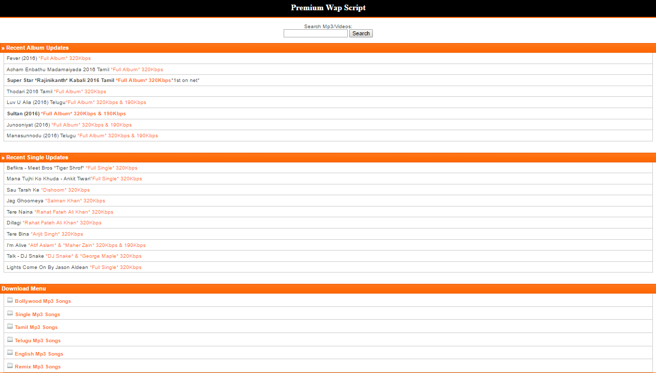 PHP Premium Wap Mobile Site Script for $40 - SEOClerks