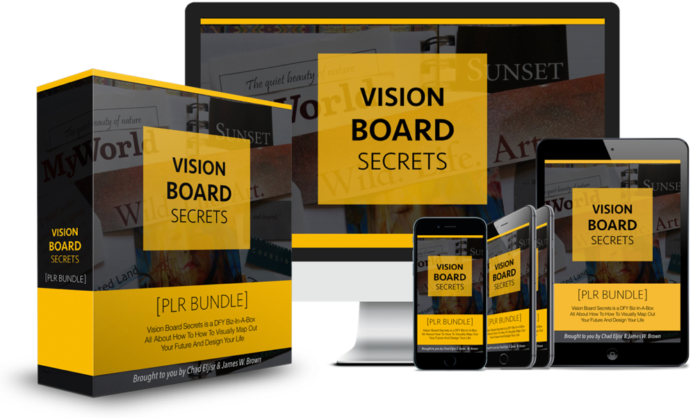 Vision Board Secrets PLR Bundle Pack