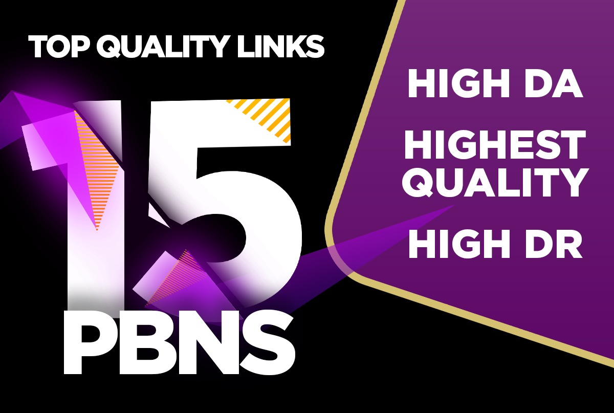 Get 15 High Quality PBN up 1000+ pbns available