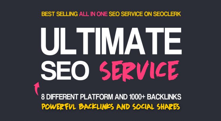 Excusive Ultimate 8 Types of Seo Backlinks package for Top Rankings