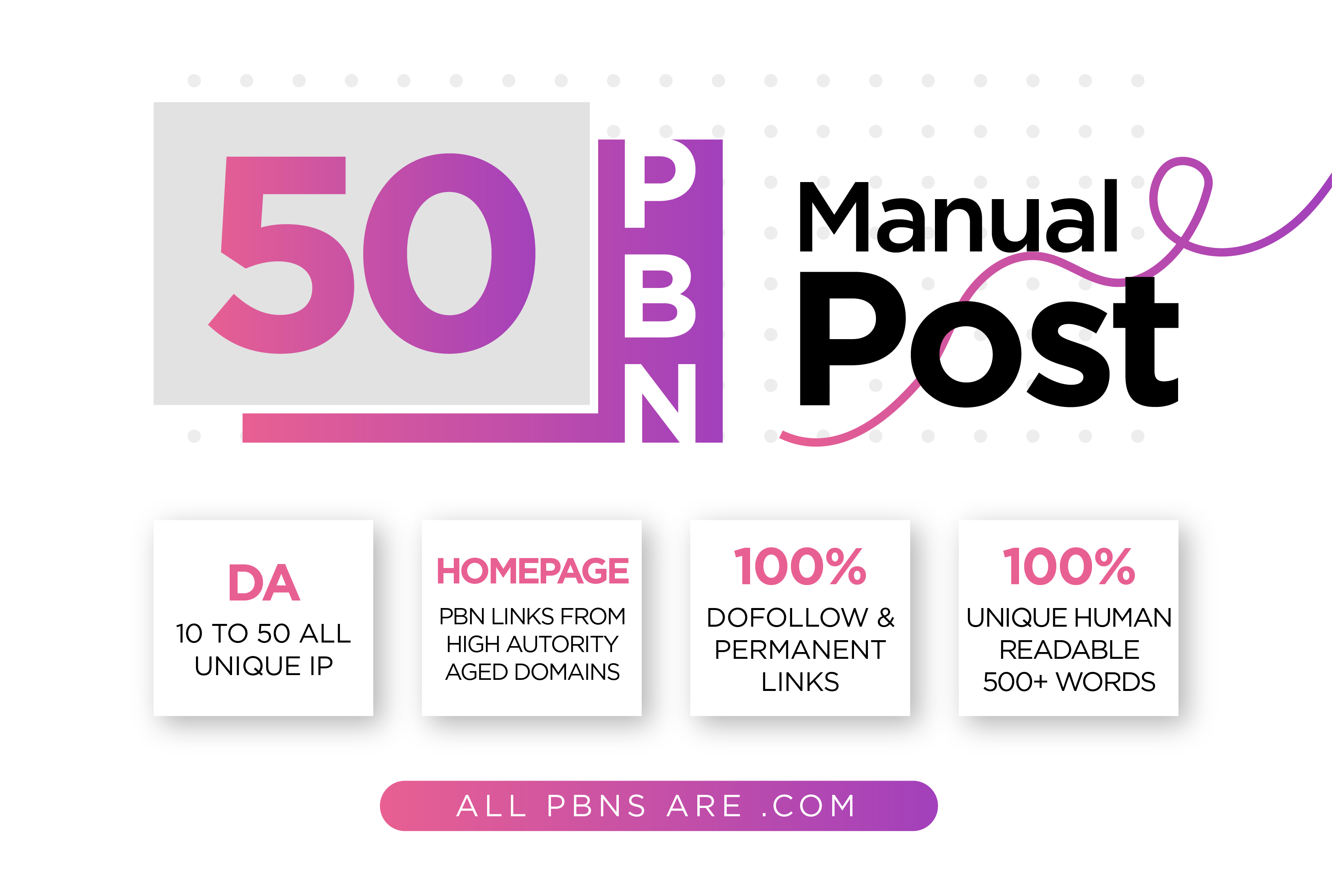Get Perfect 50 PBN posts with high PA DA all. com domains
