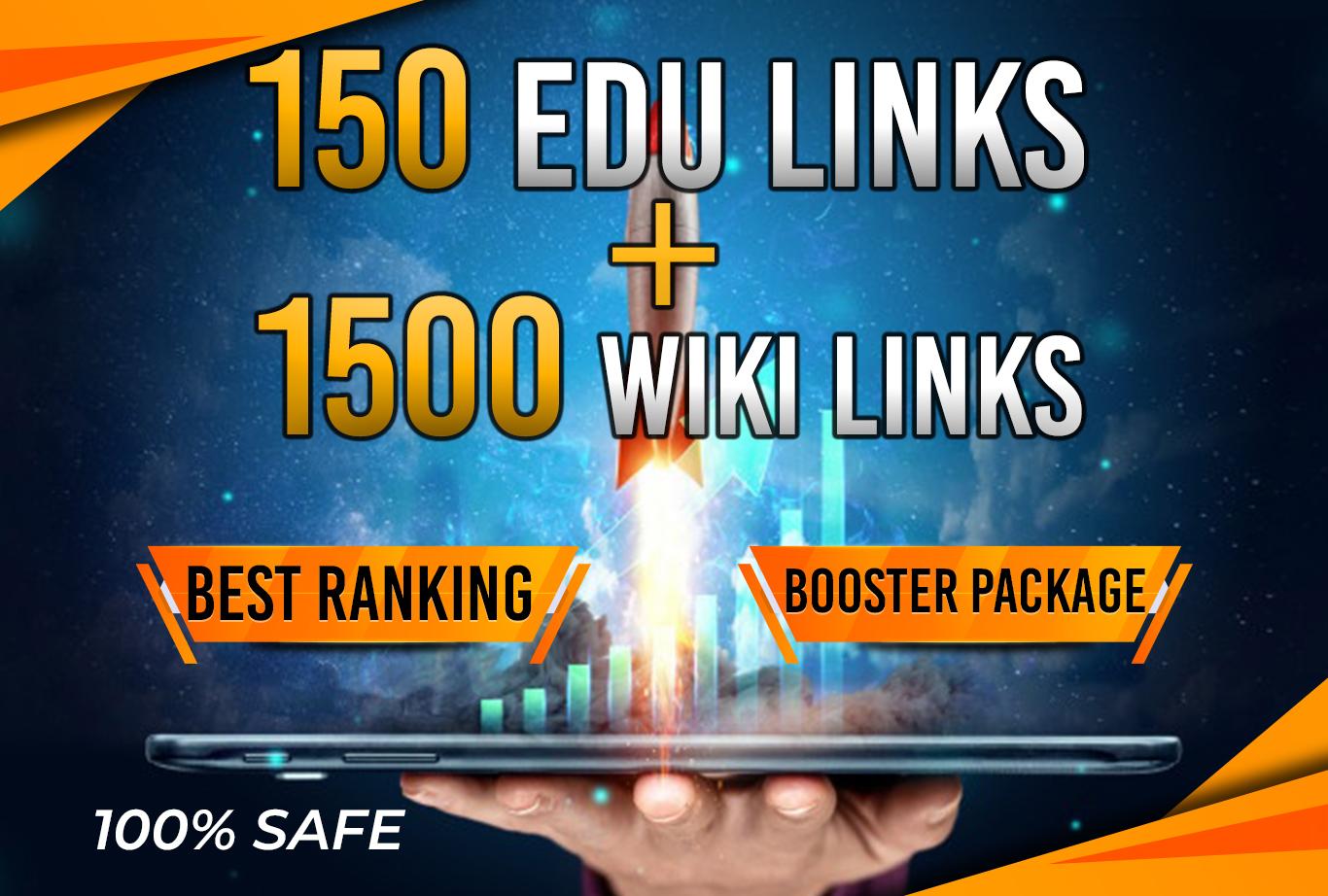 Trusted 150 EDU + 1500 WIKI link Best Ranking Package