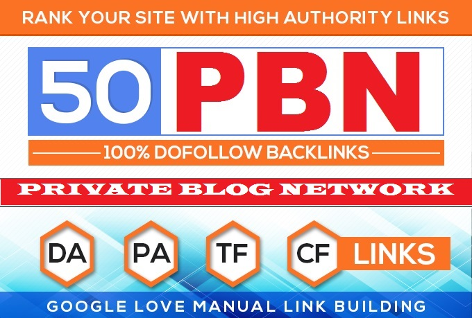 Build 50 HomePage PBN All .COM Domains Backlinks All Dofollow High Quality Backlinks