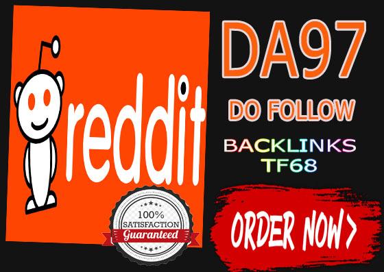 Reddit Dofollow DA97 Do-Follow 1 DOFOLLOW Backlinks From Reddit