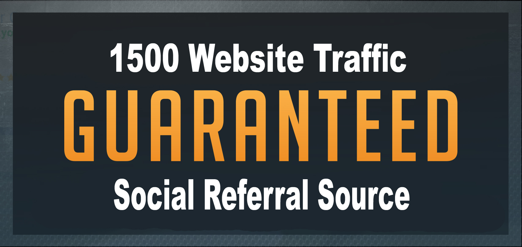 Provide 1500 Referral Source Website Traffic