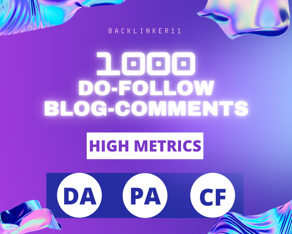 Build 1000 Plus Do Follow Blog Comment with DA20 and above