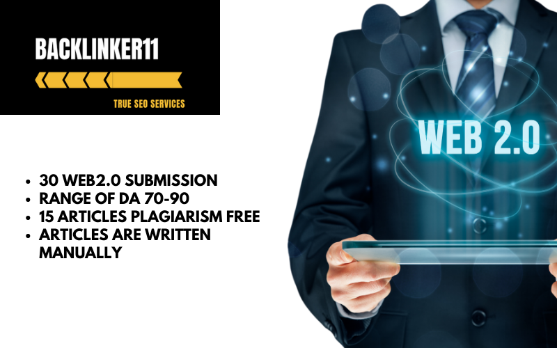 30 WEB2.0 SUBMISSION DA70-90 || High Quality Articles ||