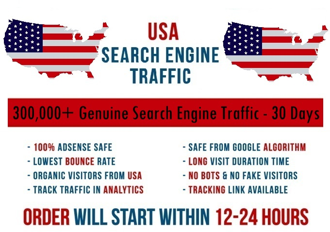 Send real 7k-300k USA based keyword targeted Search Engine traffic
