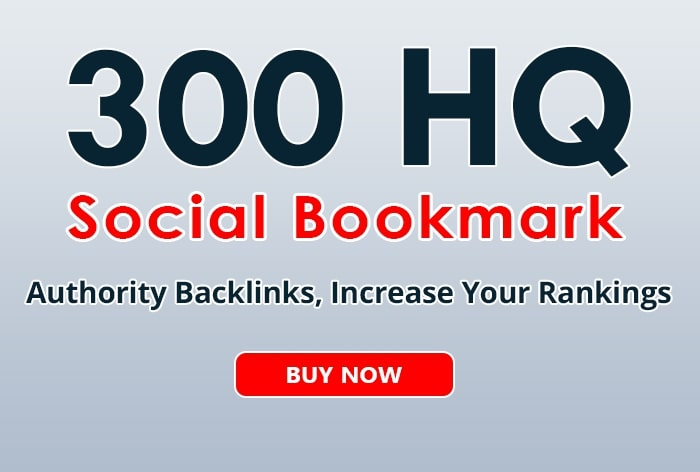 300 HQ Social Bookmarks Permanent Backlinks
