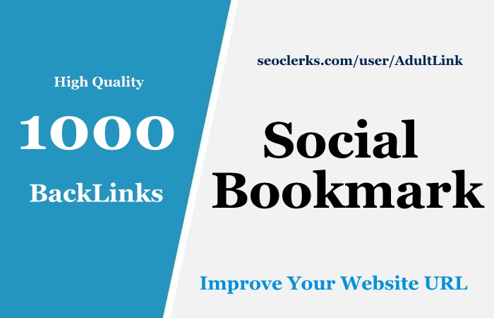 1000 HQ Social Bookmarks Backlinks for your Website
