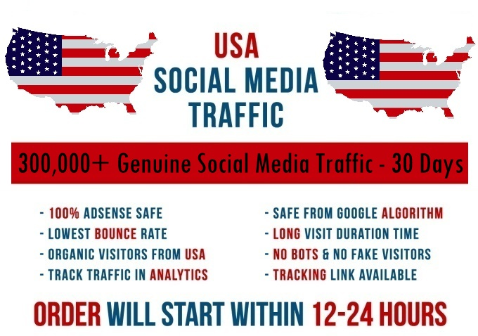 Send real 5k-300k USA based Social Media traffic