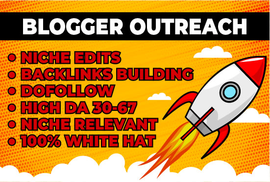I will do 1 guest posting and link building through blogger outreach and niche edits