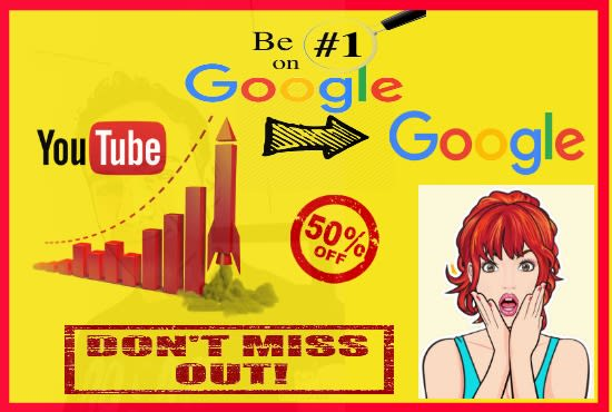 YT video ranking seo first page on search engine for local business and any video
