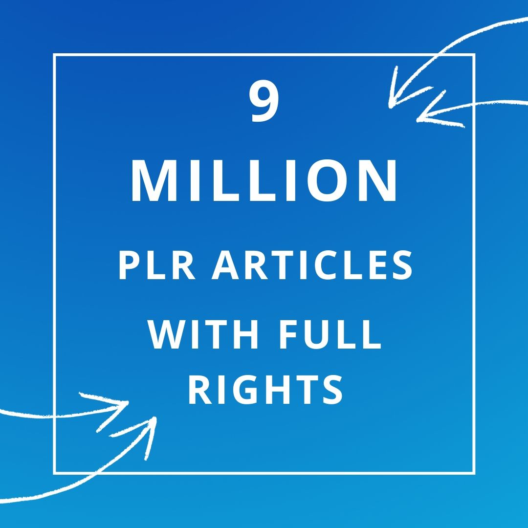 9 MILLION PLR MRR articles collection over 1000 niches