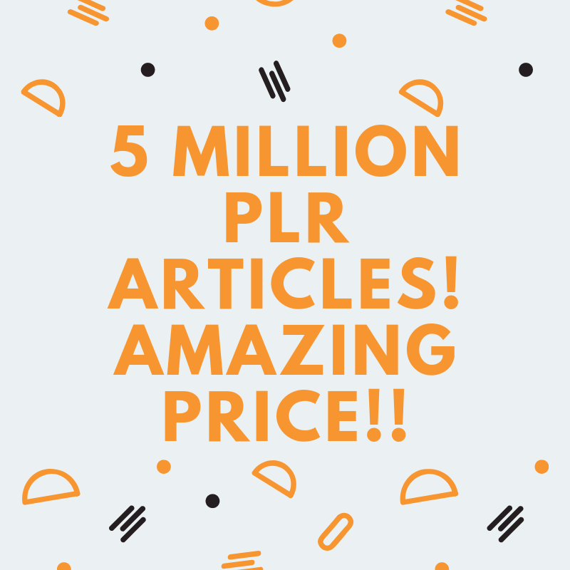 5 MILLION PLR articles collection over 1000 niches