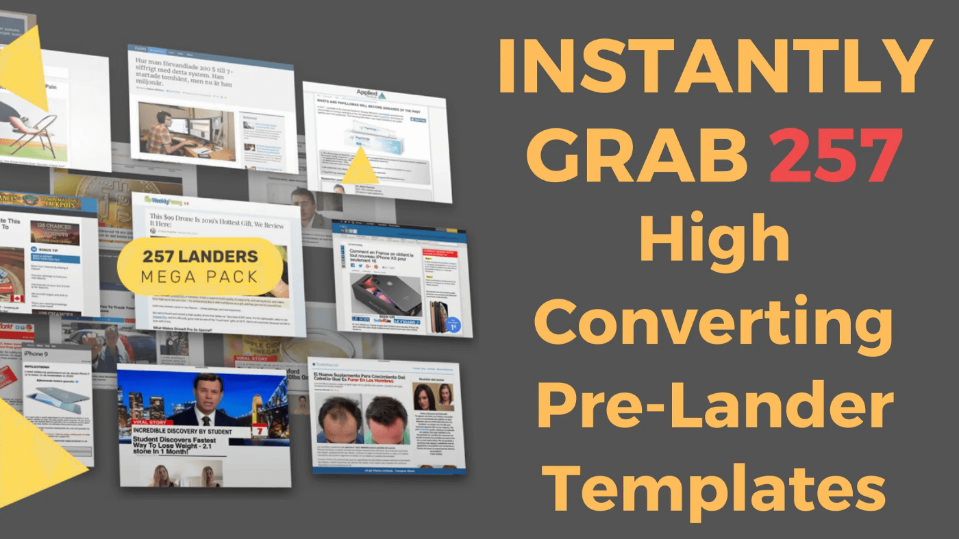 257 Hot,  Ready-To-Go Mobile,  Push & Native Pre-Lander Templates HTML with MASTER RESALE RIGHTS