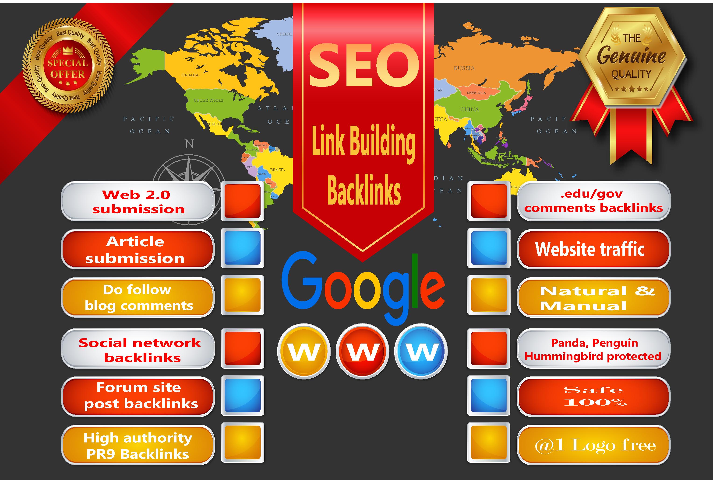 I will do 200 Link Building in High DA sites , Quality Seo Backlinks, Web traffic.