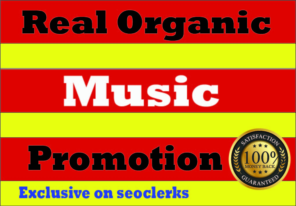 Organic Music Promotion to Your Track or playlist for premium streams