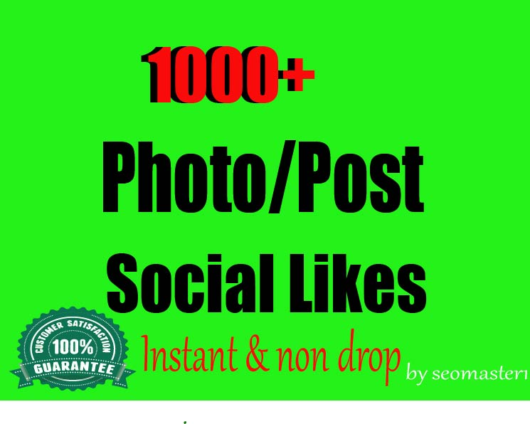 Instant 1000 Social likes High Quality Express Delivery