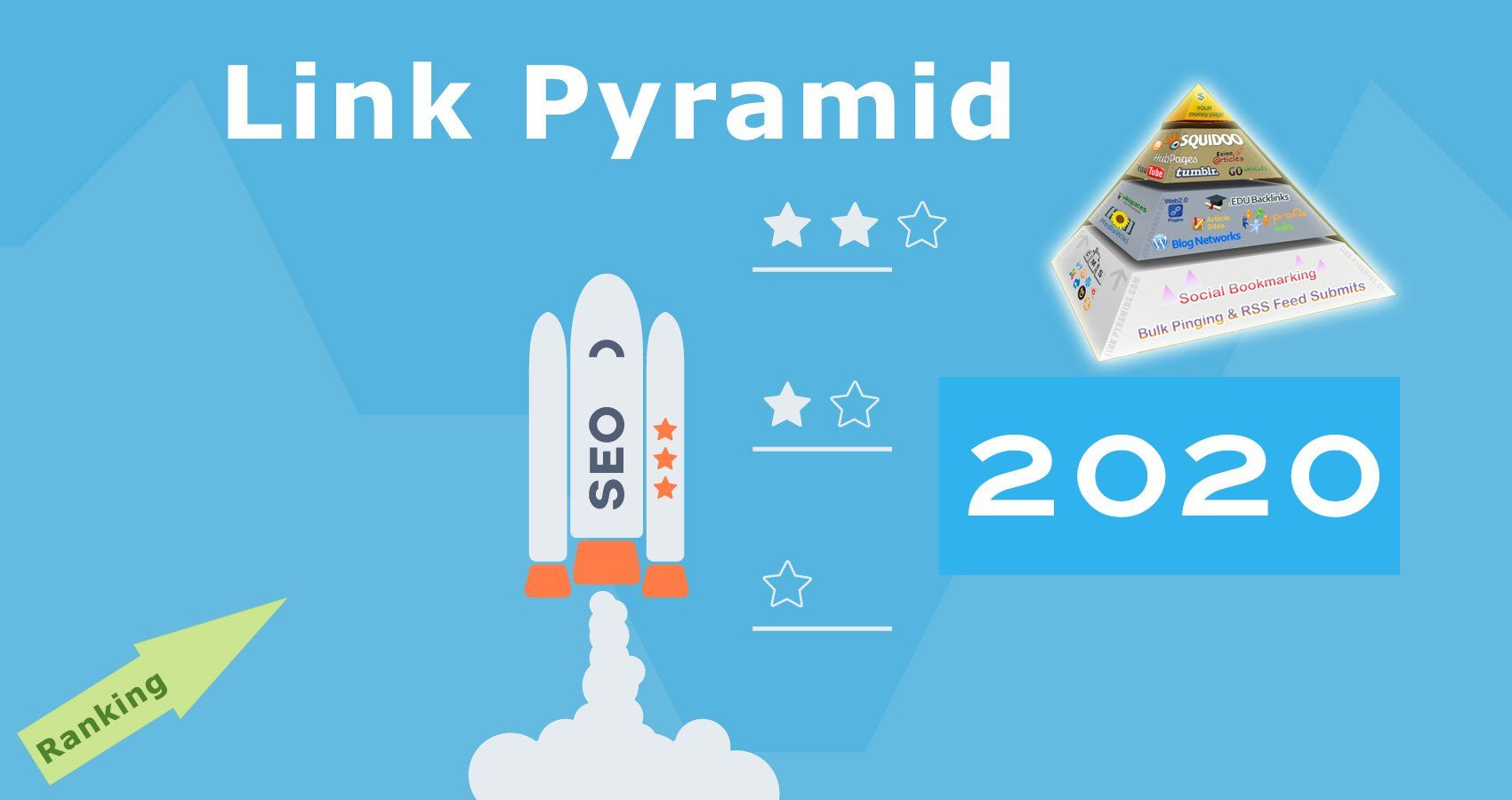 SKYROCKET your web/blog rank on google by my exclusive seo link pyramid