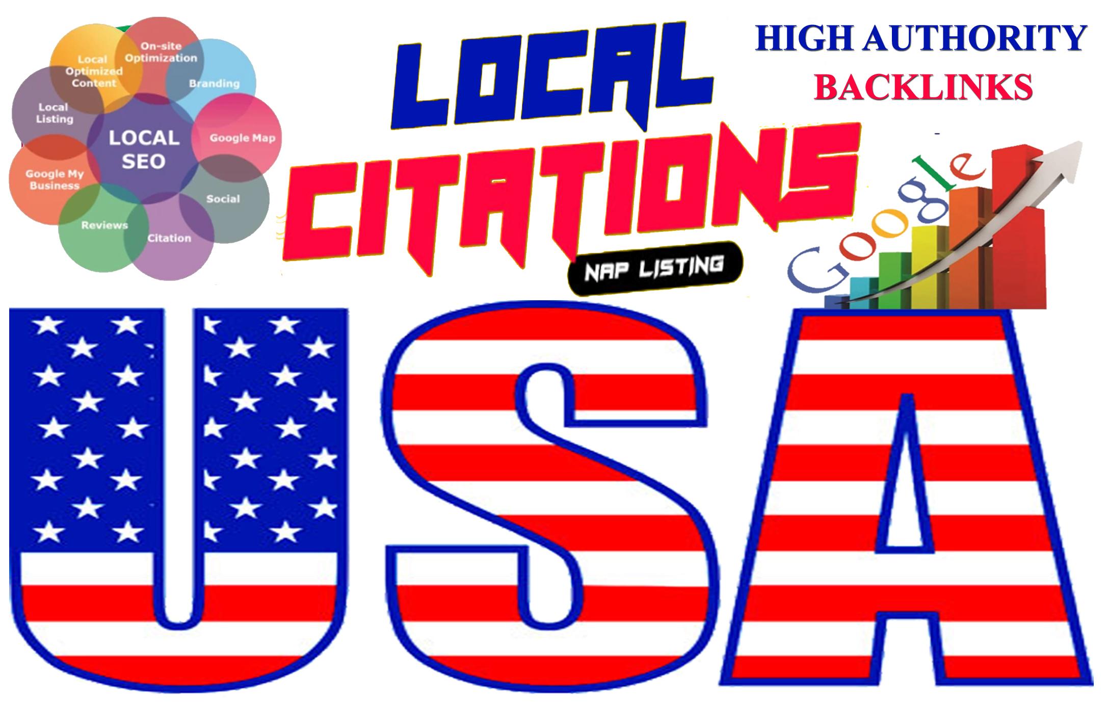 USA high pr local citations seo backlinks to skyrocket google rankings