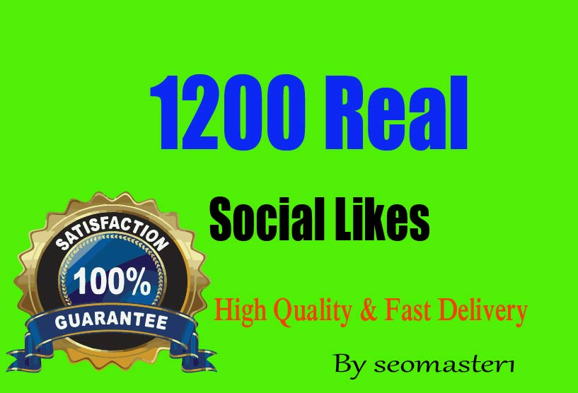super Instant 1200 Social likes High Quality Express Delivery